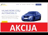 svetainė automobilių servisui